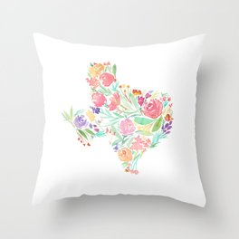 Bloomin' Texas Throw Pillow