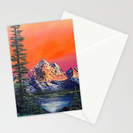 Mountains in Canada Stationery Cards
