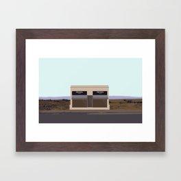 Marfa Installation: A digital illustration Framed Art Print