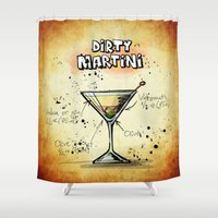 martini Shower Curtains featuring Dirty Martini by jamfoto