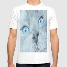 Blossom the Ragdoll Cat Mens Fitted Tee White MEDIUM
