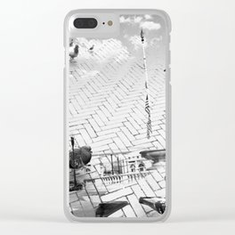 Pigeon Heaven Clear iPhone Case