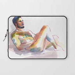 JORDAN, Nude Male by Frank-Joseph Laptop Sleeve