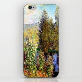 Claude Monet : A Corner of the Garden at Montgeron iPhone Skin