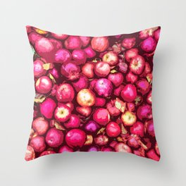 Lots of Red Apples Throw Pillow