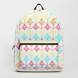 Neon diamonds pattern Backpack