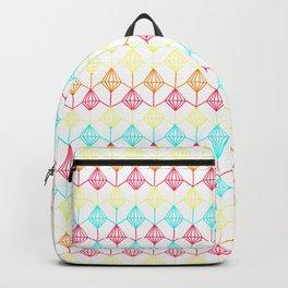 Neon diamonds pattern Backpack