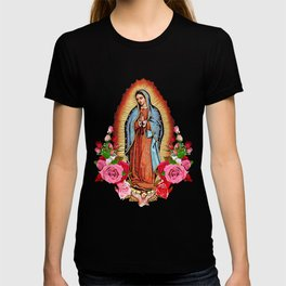 Our Lady of Guadalupe with roses T-shirt