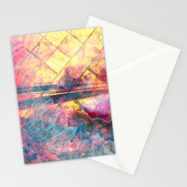 82 Abstract Pastel and Gold Stationery Cards