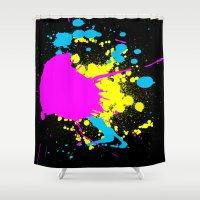 splatter Shower Curtains featuring Splatter by Spooky Dooky