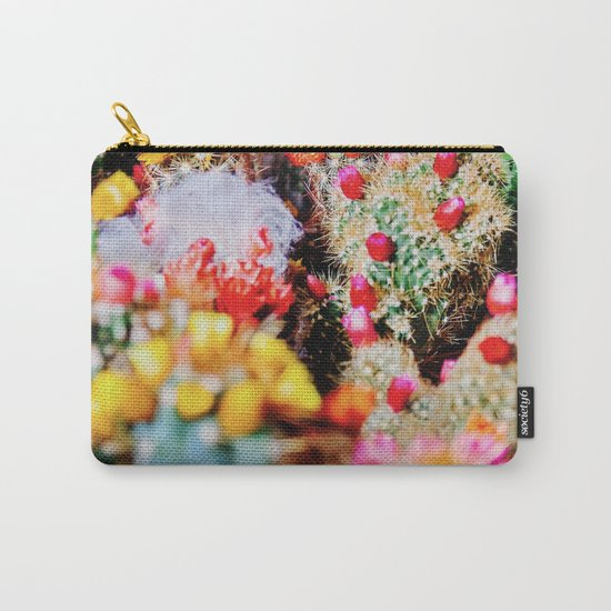 RAINBOW CACTUS CLUSTER PATTERN Carry-All Pouch
