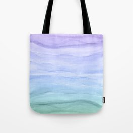Layers Blue Ombre - Watercolor Abstract Tote Bag