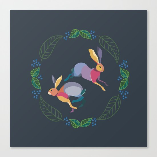 Rabbits Canvas Print
