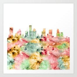Houston City Skyline Texas Art Print