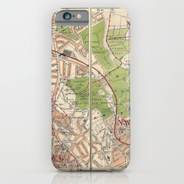 Bacon's Pocket Atlas of London (1921) - 08 Golders Green, North End, Hampstead iPhone Case