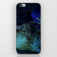 swan queen iPhone & iPod Skins featuring Swan Queen - Night Kiss by Two Swen Idiots