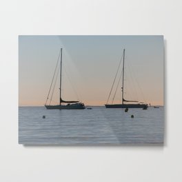 Yachts on the Riviera Metal Print