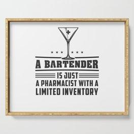 Bartender Serving Tray