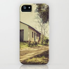 Hut on the road iPhone Case
