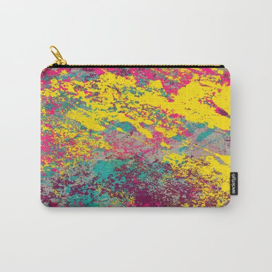 Abstract TexTure Uno - Pink, Purple, Blue And Yellow Carry-All Pouch