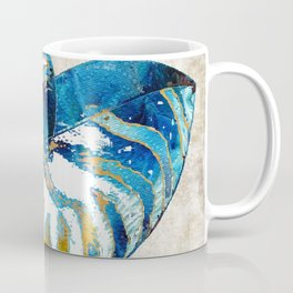 Beachy Art - Nautilus Shell Bleu - Sharon Cummings Coffee Mug