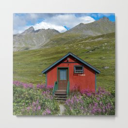 Hatcher_Pass Cabins - Palmer, Alaska Metal Print
