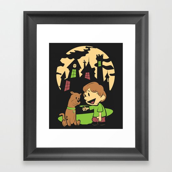 Shaggy n Scoob Framed Art Print