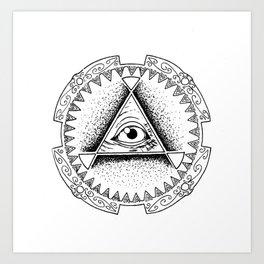 The Triangle-shaped Watcher Art Print