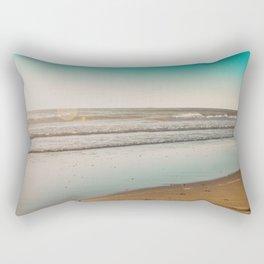 Golden Beach Days Rectangular Pillow