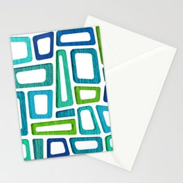 Mid Century Boxy Abstract Stationery Cards