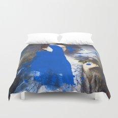 Blue Bomb Duvet Cover