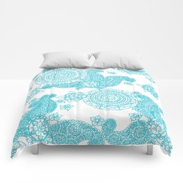 Blue Flower Pattern Comforters