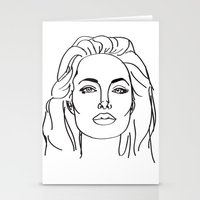 angelina jolie Stationery Cards featuring Angelina Jolie by weisart