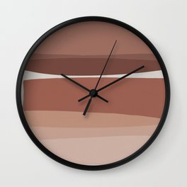 Modern Blush, Pink Painting, Pink Ombre Wall Clock
