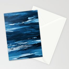 Blue Brush Strokes (Color) Stationery Cards