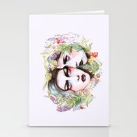 goth Stationery Cards featuring Spring Goth by Sarah Cannon