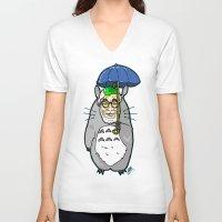 hayao miyazaki V-neck T-shirts featuring Hayao Miyazaki IS... Tortoro.  Is this his goodbye? by beetoons