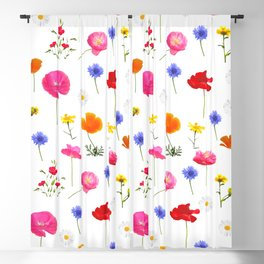 summer flowers Blackout Curtain