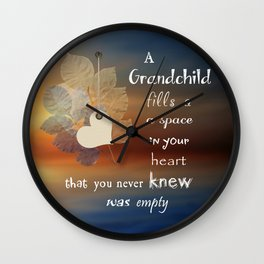 A Grandchild Wall Clock