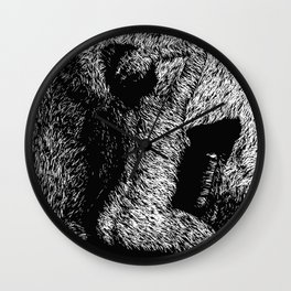 Figure Seated on Chair Wall Clock