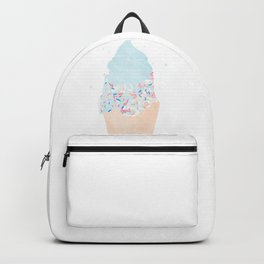 blue ice cream cone with sprinkles Backpack