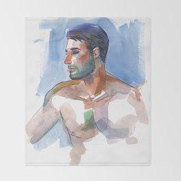 MATT, Semi-Nude Male by Frank-Joseph Throw Blanket