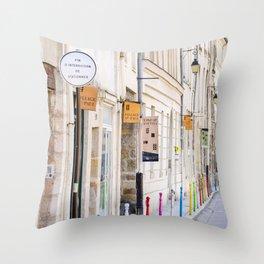 Paris Street Style No. 3 Throw Pillow