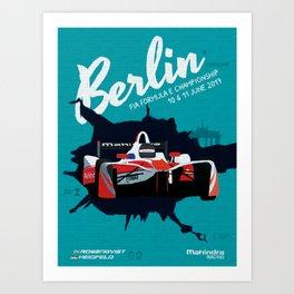 Mahindra Racing FIA Formula E Season Three Race 07 08 Berlin ePrix Poster Art Print