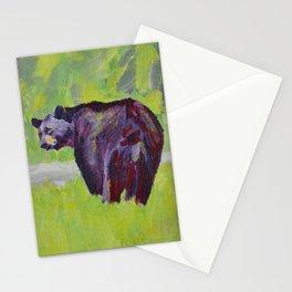 Green Bear Stationery Cards