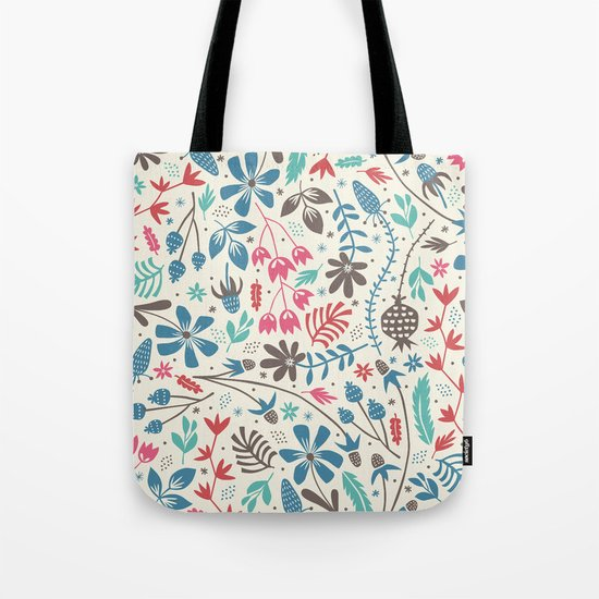 Retro Blooms Tote Bag