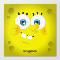 spongebob Canvas Prints featuring SpongeBob by solostudio