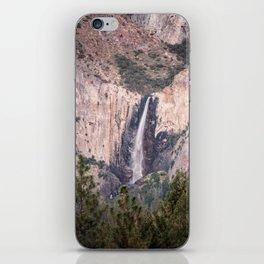 Sunset on Bridalveil Fall in Yosemite National Park iPhone Skin