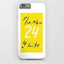Mamba 4 Life iPhone Case