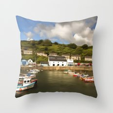 Porthleven Cornwall Throw Pillow